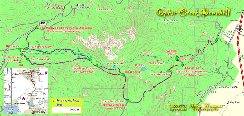Ophir Creek Trail   dhRENO.com on hole in the ground trail map, camp tamarancho trail map, annadel state park trail map, saratoga gap trail map, santiago oaks trail map, wilder ranch state park trail map, hurkey creek trail map, redwood regional park trail map, briones regional park trail map, usnwc trail map, devil's slide trail map,