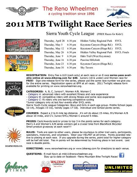 Reno Wheelmen Twilight Race Series